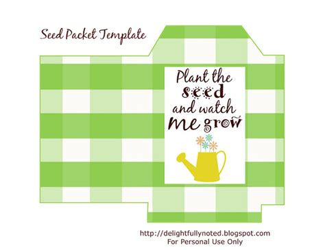 seed packet template free printables seed packet template s gift delightfully noted