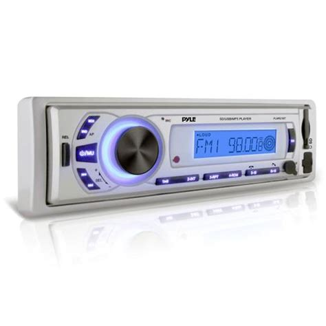 pyle plmr21bt bluetooth stereo radio in dash console headunit receiver usb sd mp3 playback aux