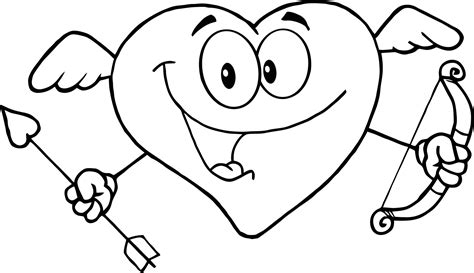 cute love coloring page  print  happy heart  kids