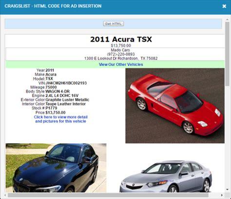 Craigslist Car Template by Craigslist Car Ad Template Photos Exle Resume