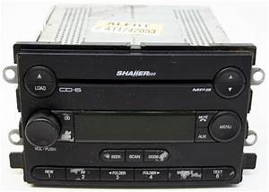 Ford Mustang 2005-2006 Factory Stereo Shaker 500 MP3 6 Disc Changer CD Player OEM Radio - R-2779