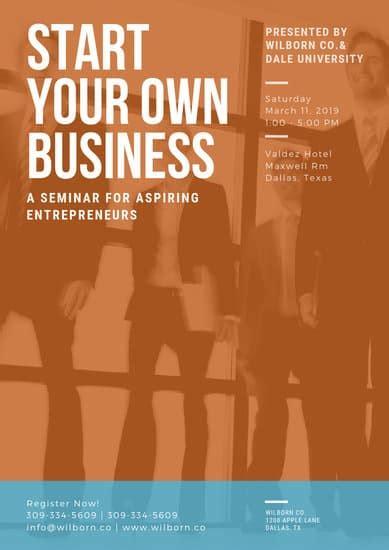 customize  business poster templates  canva