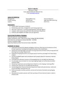 resume for college application sle resume for shipping and receiving supervisor bestsellerbookdb