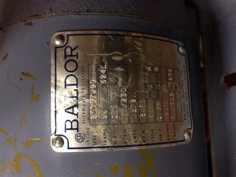 Baldor Single Phase Motor Wiring