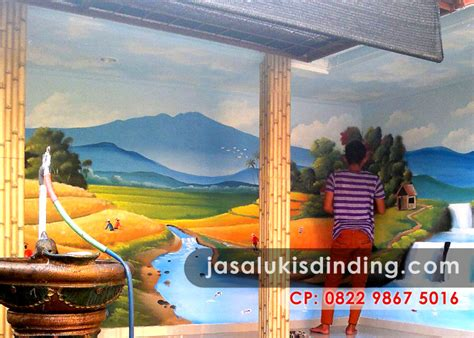 gambar lukisan pemandangan dinding sebagai pilihan
