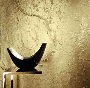 Schwarz Gold Tapete : stein tapete schiefer mit gold bronze kupfer silber perlmutt weiss und schwarz online kaufen ~ Yasmunasinghe.com Haus und Dekorationen