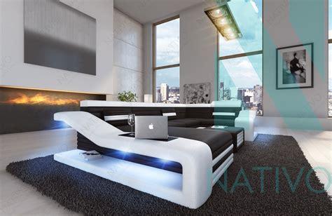 canapé design canapé mirage xl ac éclairage led nativo mobilier design