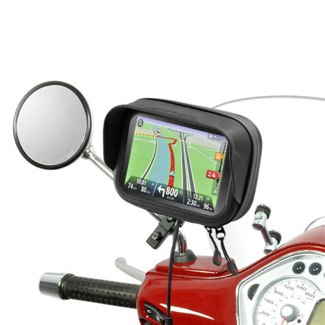 navi für roller roller scooter halterung mit tasche blendschutz f 252 r navi gps pda tomtom garmin ebay