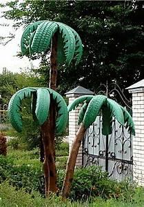 Ideas para decorar el jardín con neumáticos reciclados Mil Ideas de Decoración
