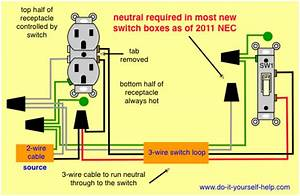 How To Wire A Switched Outlet Power To Receptacle