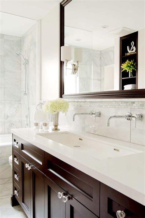 traditional single sink  faucet master bathroom photo  stephani buchman photography