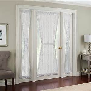 leaf trellis wide side light door panel in white bed