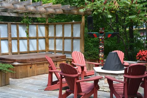 outdoor privacy screen ideas patio traditional with bay