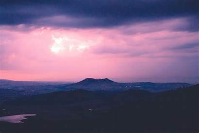 Sky Sunset 4k Abend Berge Hintergrundbilder Wallpapers
