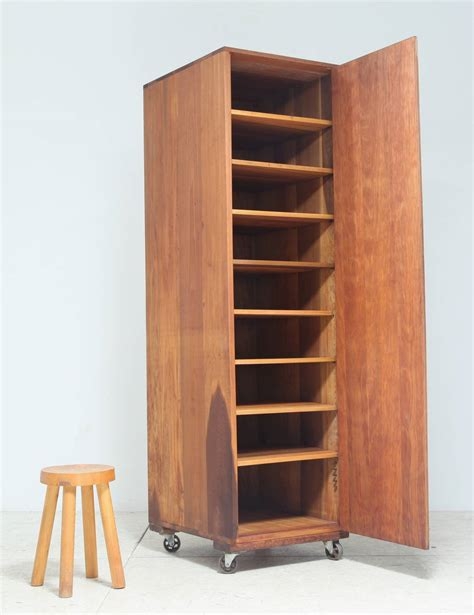 storage cabinet on wheels arden riddle high cupboard on wheels for sale at 1stdibs