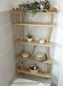 Etagere En Bois Salle De Bain : etag re de salle de bain caract re naturel par benoit ~ Teatrodelosmanantiales.com Idées de Décoration