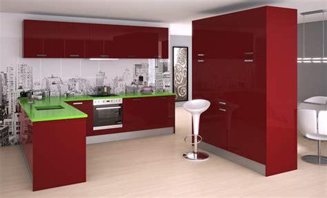 cocinas en color rojo cocinascom  muebles blog