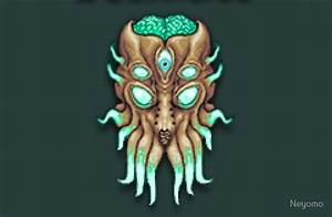 """Terraria Moon Lord Head"" Laptop Skins by Neyomo Redbubble"