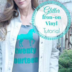 Diy glitter iron on vinyl tutorial diy show off tm diy for Diy vinyl lettering for shirts