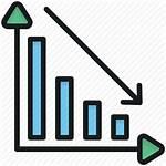 Graph Decreasing Loss Icon Performance Chart Financial