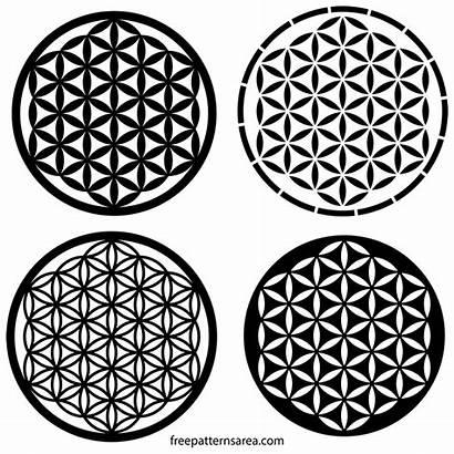 Geometry Sacred Flower Pattern Drawing Vector Freepatternsarea