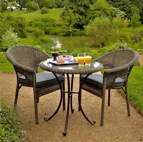 leisuregrow torino rattan bistro set 2 seater