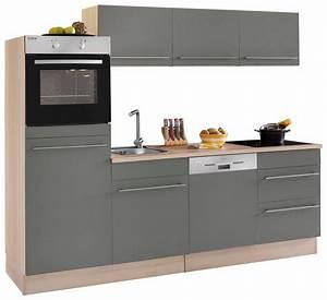 Optifit kuchenzeile ohne e gerate bern breite 240 cm for Optifit küchenm bel