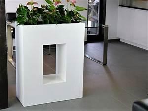 Pflanztrog Raumteiler Fiberglas : raumteiler unico l80x b35x h100cm mit einsatz aus fiberglas aluminium in hochglanz wei bei ~ Sanjose-hotels-ca.com Haus und Dekorationen