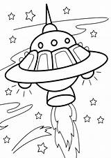 Spaceship Coloring Pages Coloringway sketch template