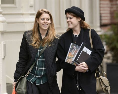 Princess Beatrice (right) will be her sister Eugenie's maid of honour. Picture: AFPSource:AFP