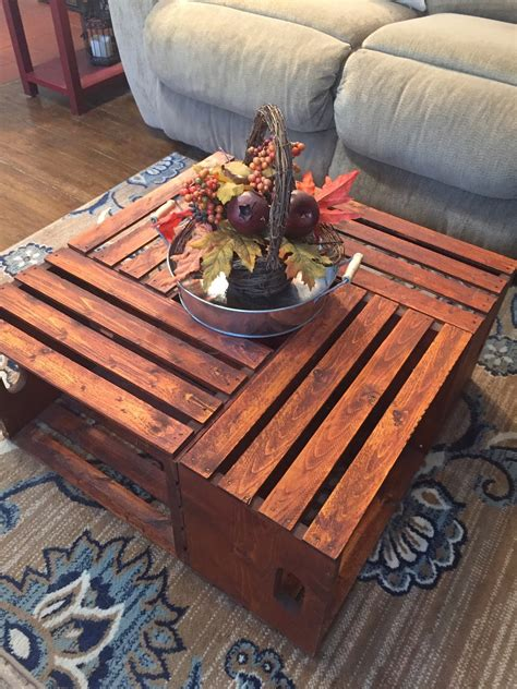 diy wooden crate coffee table  legal duchess