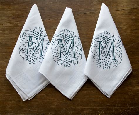monogram m handkerchiefs initial handkerchief by initial handkerchiefs pack of 3 personalized initial white