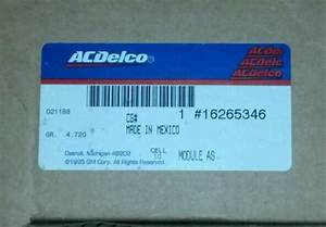 Purchase Acdelco Gm Original Equipment 16265346 Abs