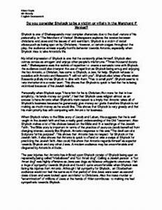 Essay About Science Merchant Of Venice Shylock Essay Small Essays In English also Sample Argumentative Essay High School Merchant Of Venice Shylock Essay Kwasi Enin Essay Bad Merchant Of  Pollution Essay In English