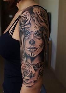 Tattoos Mit Bedeutung Für Frauen : la catrina tattoo bedeutung was steht hinter dem trend tattoos zenideen ~ Frokenaadalensverden.com Haus und Dekorationen