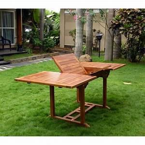 Table Jardin Teck : table en teck massif huile pour salon et jardin ~ Teatrodelosmanantiales.com Idées de Décoration