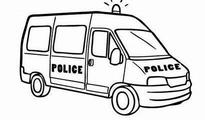 Coloring Police Van Pages Drawing Printable Colouring
