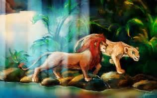 Lion King Simba and Nala
