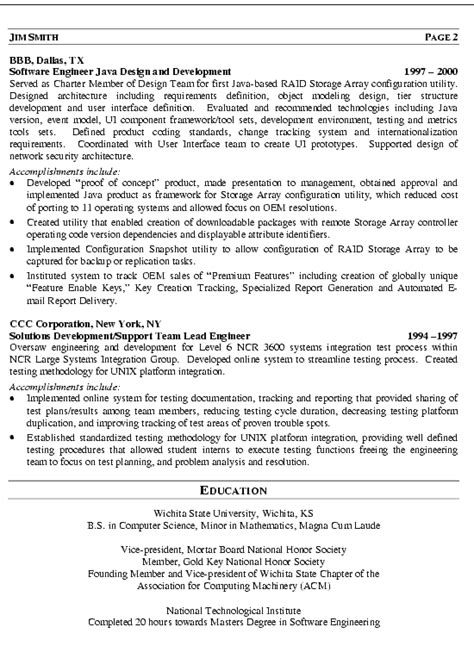 sle resume for software engineer 28 images 28 software 100 100 software engineer sle resume assistant