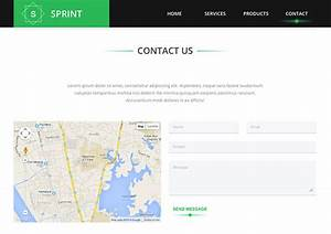 Sprint free html5 template creative beacon for Contact us template free download