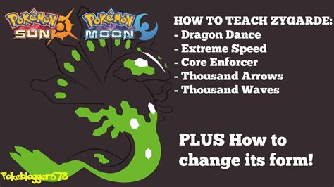 Pokemon Sun And Moon  How To Teach Zygarde Its Special Core Moves And Change Its Form! (10%, 50