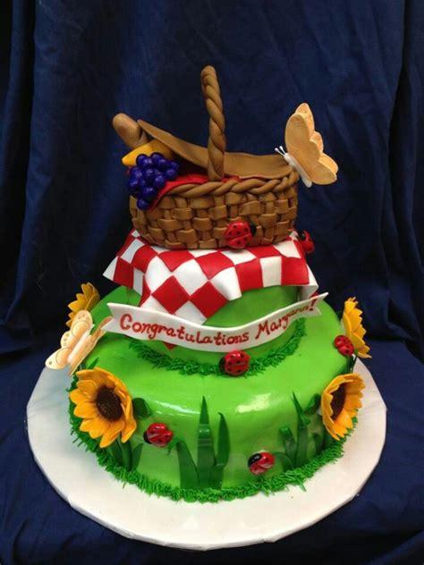 picnic themed cake girls birthday cakes pinterest