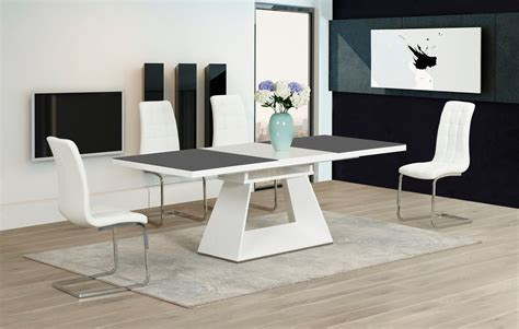 grey and white dining table high gloss glass in grey white dining table and 8 chairs