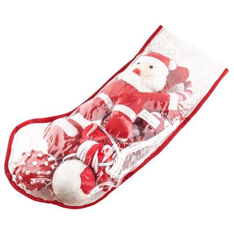 filled christmas stockings pet puppy squeaky play toys santa snowman xmas gift ebay