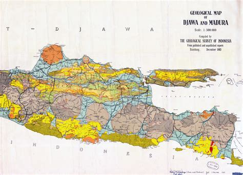 geological indonesia map djawa indonesia mappery