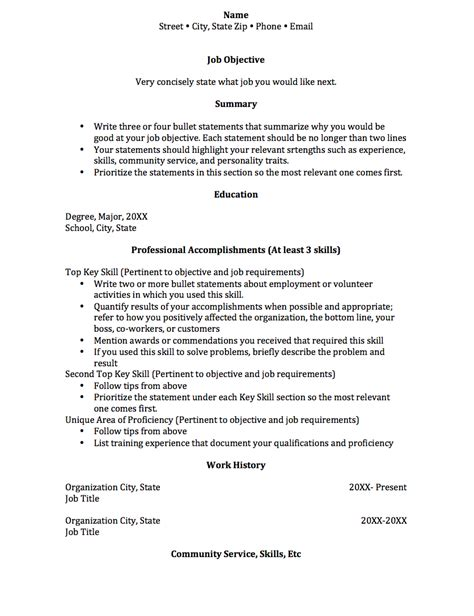 Functional Resume by Functional Resume College Of Social And Behavioral
