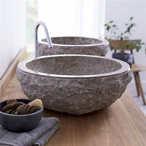 Aufsatzwaschbecken Auf Holz : waschbecken aus stein geeignete natursteinarten und optiken ~ Indierocktalk.com Haus und Dekorationen