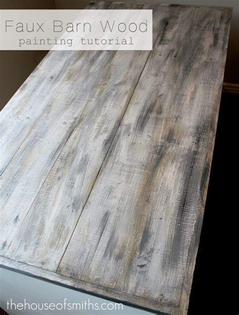 Faux Barn Wood Painting Tutorial! Pinpoint