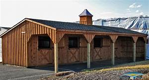 Shedrow horse barns horizon structures for 4 stall horse barn kits