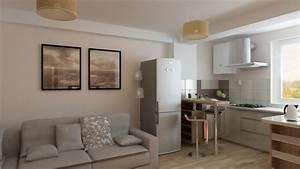 Wohnzimmer Weiß Braun : bilder 3d interieur k che und wohnzimmer braun wei 4 ~ Sanjose-hotels-ca.com Haus und Dekorationen